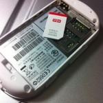 IDEOSにe-mobileのSIMカードを差してみた