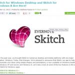 EvernoteがSkitch for Winと連携するようになった